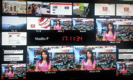 The TV studio in the BBC - around me. By the way... It is wonderfull feelings!;-)