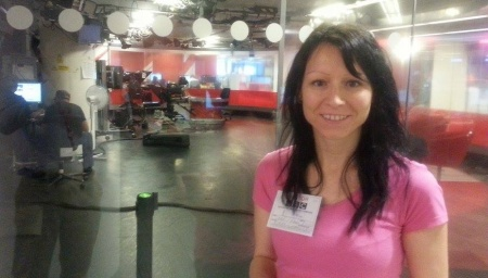 The TV studio in the BBC - behind me